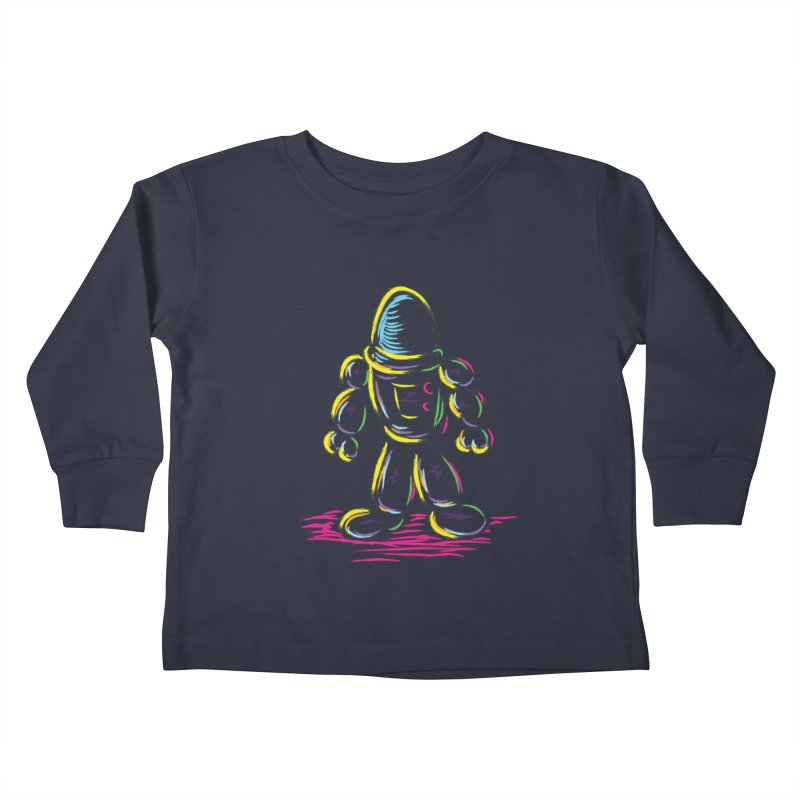 The Technicolor Kids Robot Kids Toddler Longsleeve T-Shirt by Kamonkey's Artist Shop