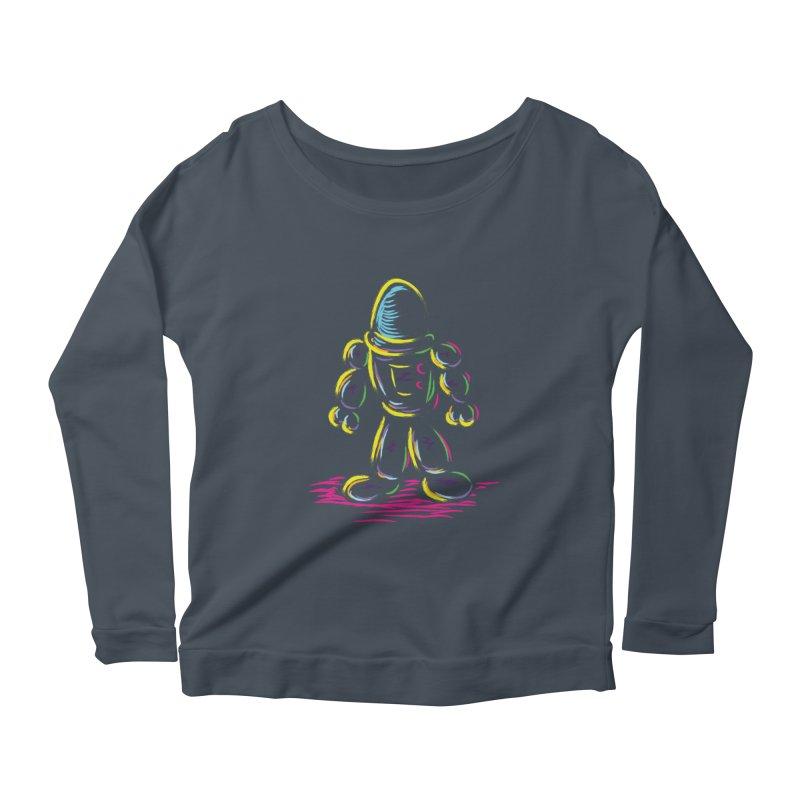 The Technicolor Kids Robot Women's Scoop Neck Longsleeve T-Shirt by Kamonkey's Artist Shop