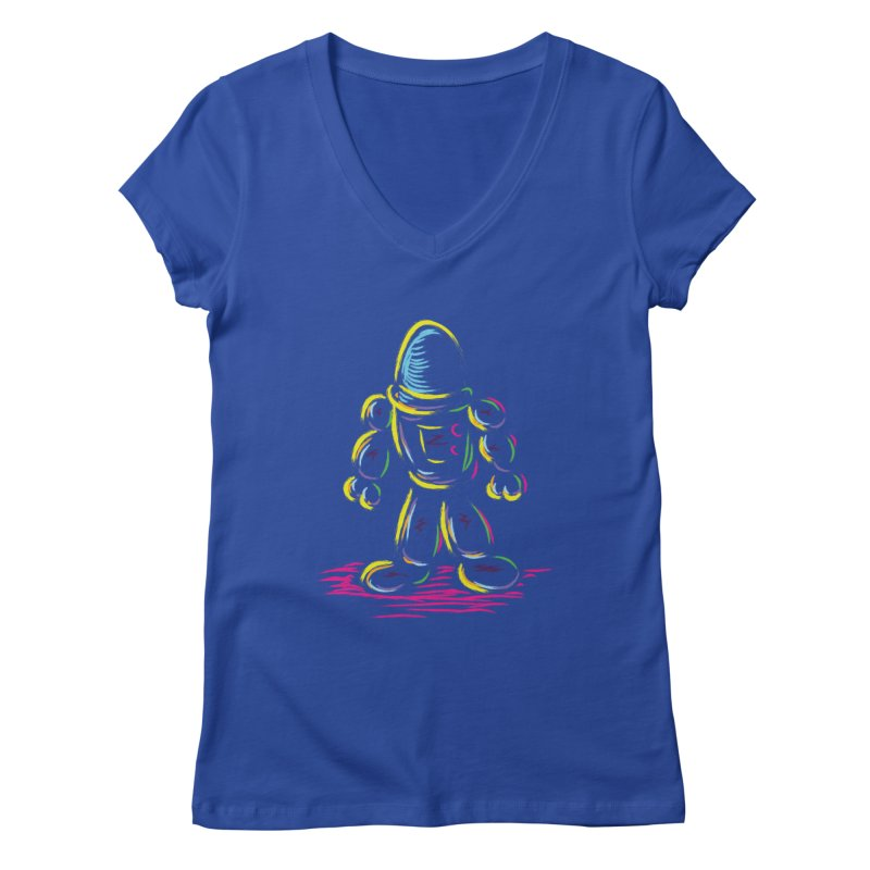 The Technicolor Kids Robot Women's V-Neck by Kamonkey's Artist Shop