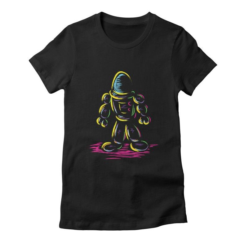 The Technicolor Kids Robot Women's Fitted T-Shirt by Kamonkey's Artist Shop