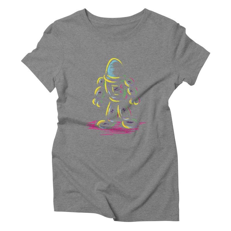 The Technicolor Kids Robot Women's Triblend T-Shirt by Kamonkey's Artist Shop
