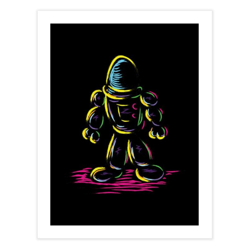 The Technicolor Kids Robot Home Fine Art Print by Kamonkey's Artist Shop