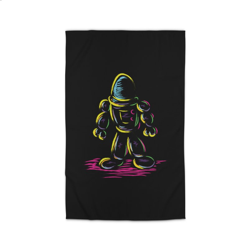 The Technicolor Kids Robot Home Rug by Kamonkey's Artist Shop