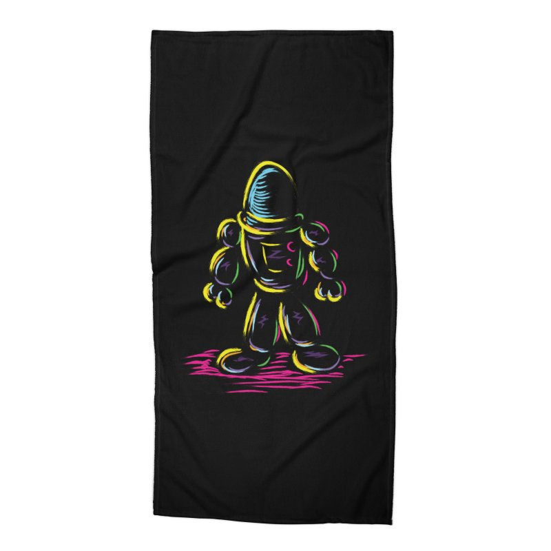 The Technicolor Kids Robot Accessories Beach Towel by Kamonkey's Artist Shop
