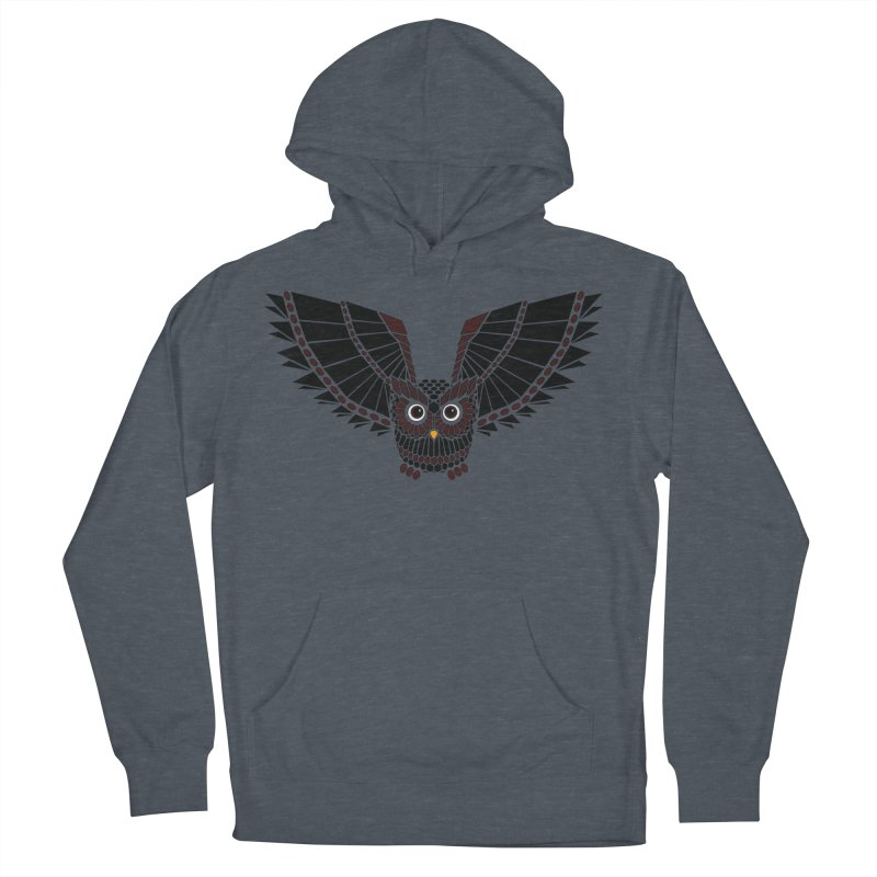 The Great Geometric Owl Women's French Terry Pullover Hoody by Kamonkey's Artist Shop