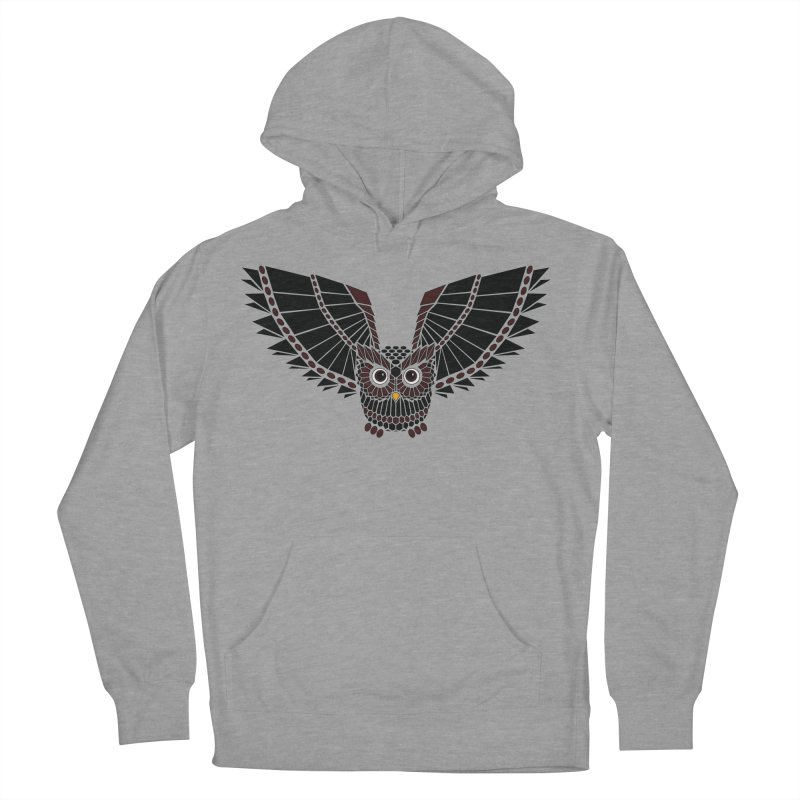 The Great Geometric Owl Men's French Terry Pullover Hoody by Kamonkey's Artist Shop