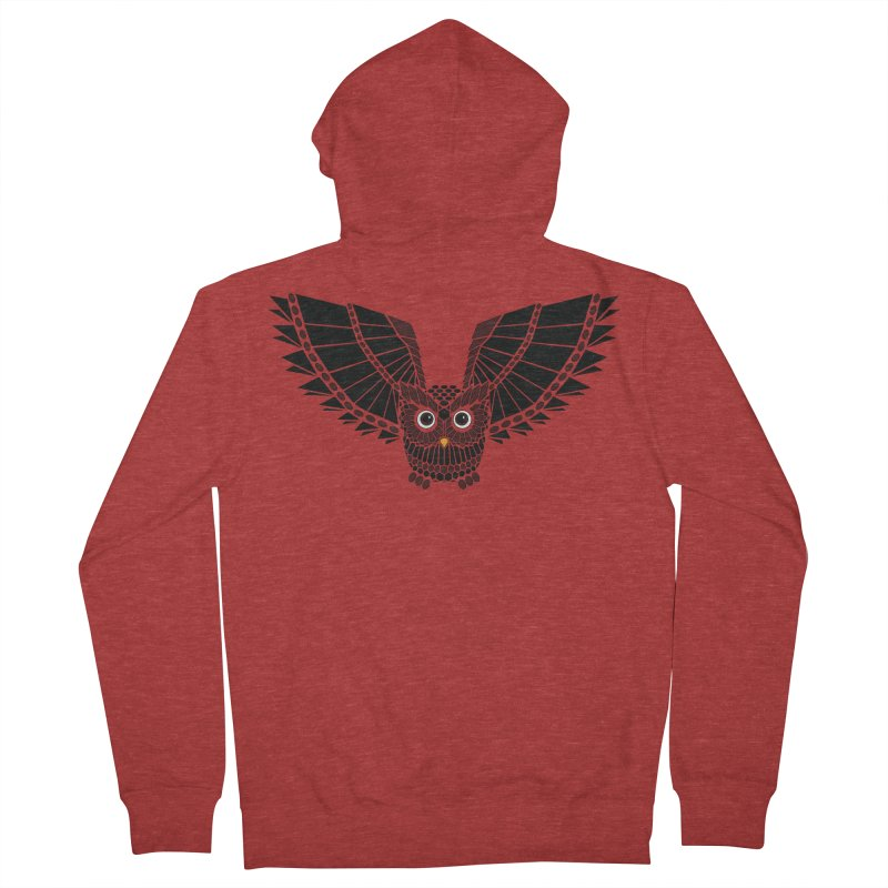 The Great Geometric Owl Women's French Terry Zip-Up Hoody by Kamonkey's Artist Shop