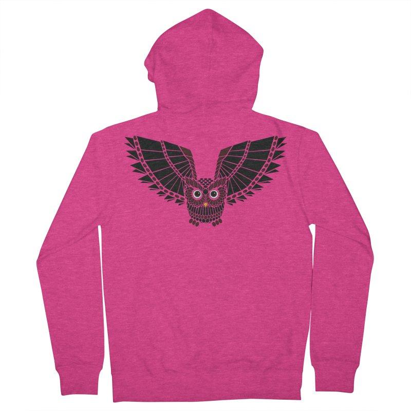The Great Geometric Owl Women's French Terry Zip-Up Hoody by Kamonkey's Artist Shop
