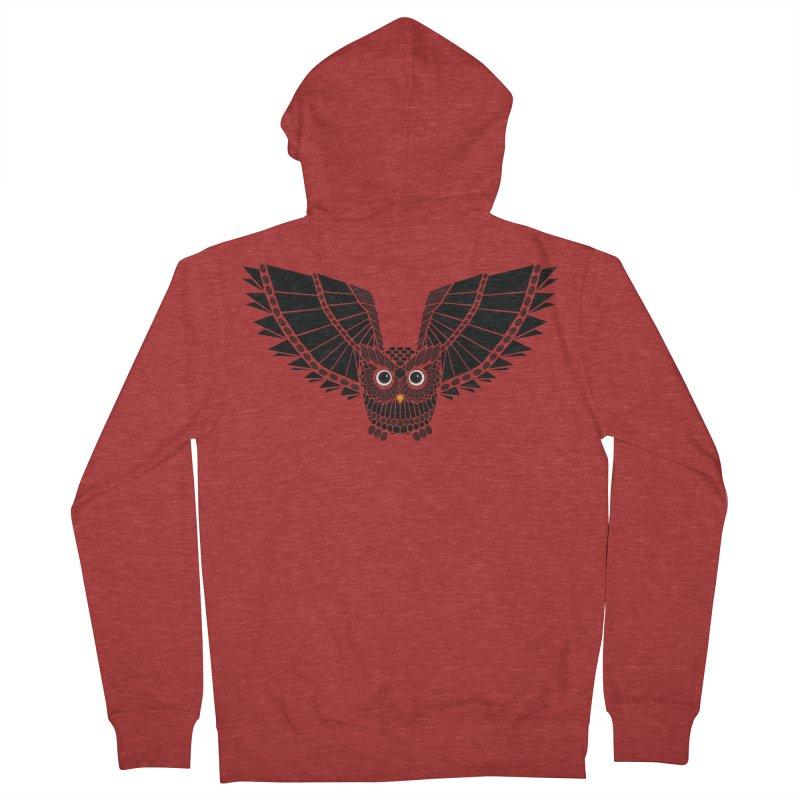 The Great Geometric Owl Men's French Terry Zip-Up Hoody by Kamonkey's Artist Shop