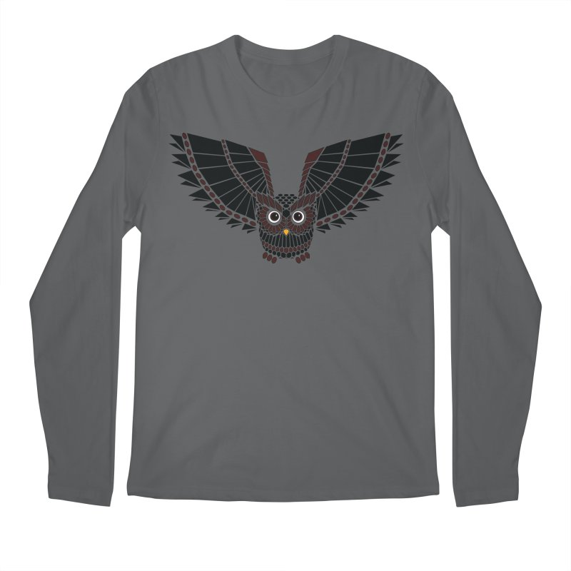 The Great Geometric Owl Men's Regular Longsleeve T-Shirt by Kamonkey's Artist Shop