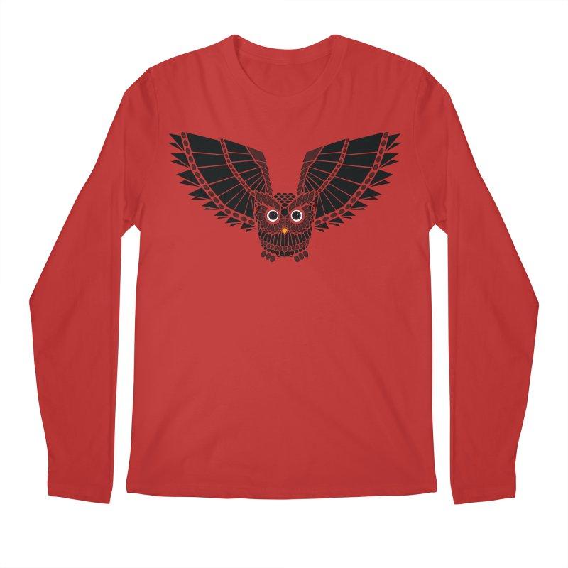 The Great Geometric Owl Men's Regular Longsleeve T-Shirt by Kamonkey's Artist Shop