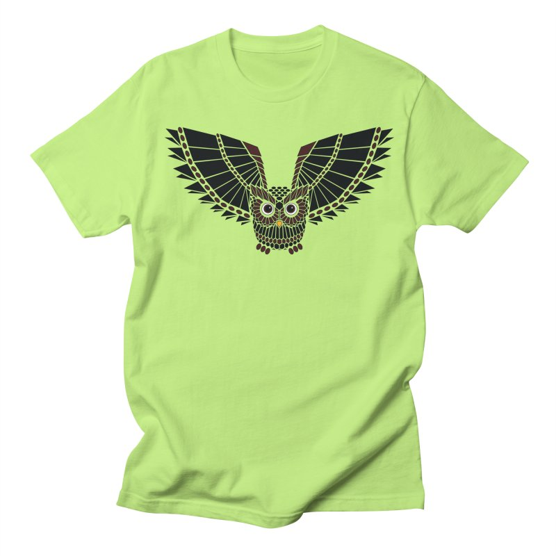The Great Geometric Owl Women's Unisex T-Shirt by Kamonkey's Artist Shop