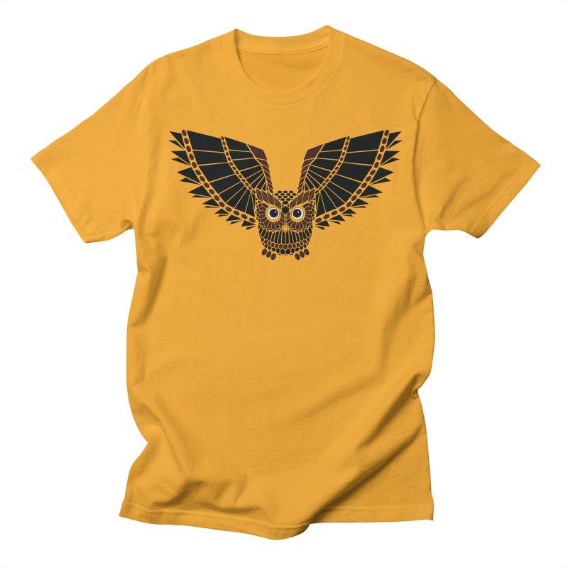The Great Geometric Owl Women's Unisex T-Shirt by Kamonkey's Artist Shop