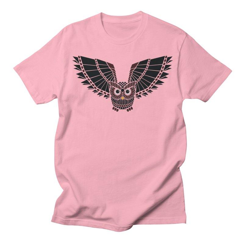 The Great Geometric Owl Women's Regular Unisex T-Shirt by Kamonkey's Artist Shop