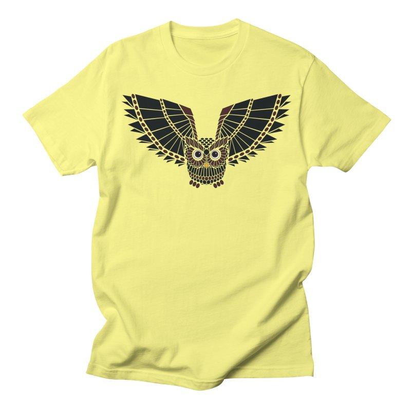The Great Geometric Owl Men's T-Shirt by Kamonkey's Artist Shop