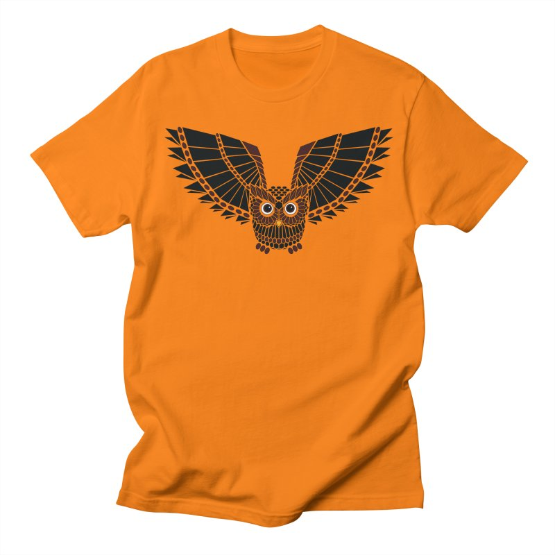 The Great Geometric Owl Men's Regular T-Shirt by Kamonkey's Artist Shop