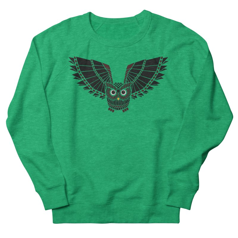 The Great Geometric Owl Women's French Terry Sweatshirt by Kamonkey's Artist Shop