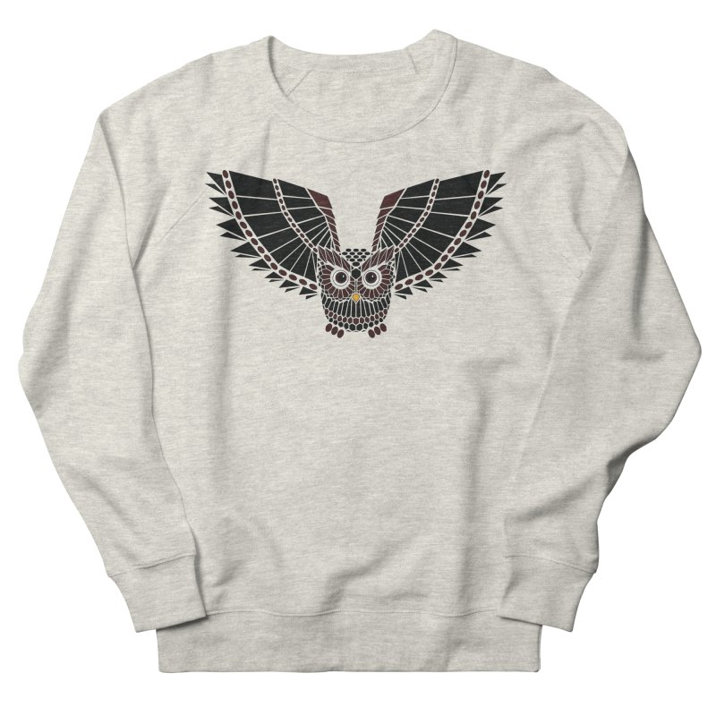 The Great Geometric Owl Men's Sweatshirt by Kamonkey's Artist Shop