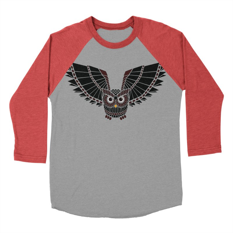 The Great Geometric Owl Women's Baseball Triblend T-Shirt by Kamonkey's Artist Shop