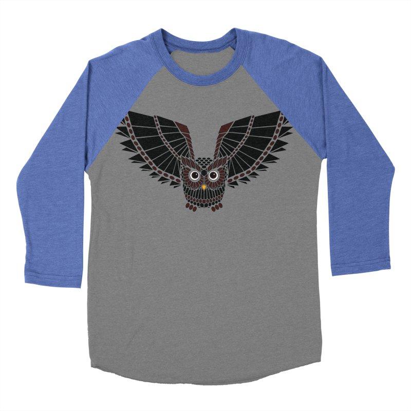 The Great Geometric Owl Men's Baseball Triblend Longsleeve T-Shirt by Kamonkey's Artist Shop