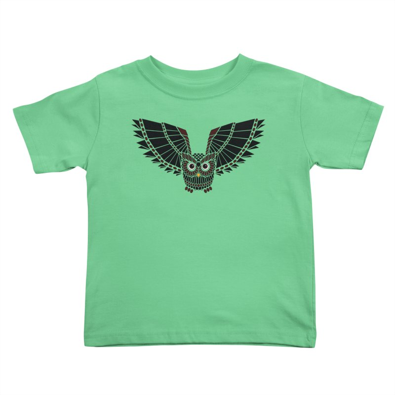 The Great Geometric Owl Kids Toddler T-Shirt by Kamonkey's Artist Shop