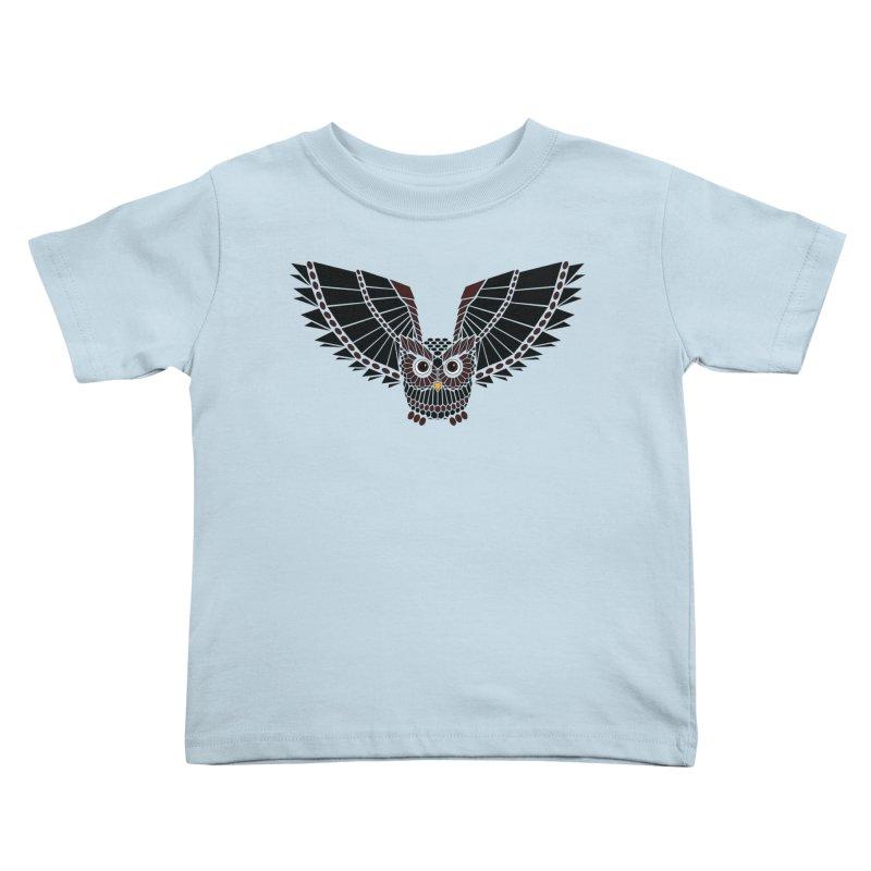 The Great Geometric Owl Kids Toddler T-Shirt by Kamonkey's Artist Shop