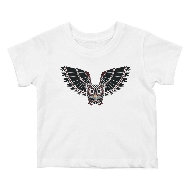 The Great Geometric Owl Kids Baby T-Shirt by Kamonkey's Artist Shop