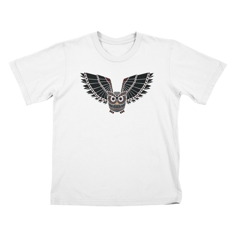 The Great Geometric Owl Kids T-shirt by Kamonkey's Artist Shop