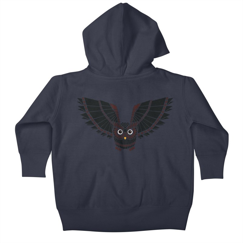 The Great Geometric Owl Kids Baby Zip-Up Hoody by Kamonkey's Artist Shop