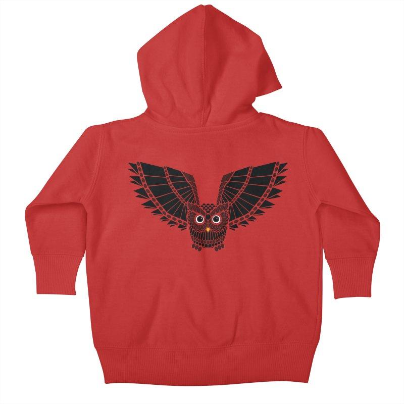 The Great Geometric Owl Kids Baby Zip-Up Hoody by Kamonkey's Artist Shop