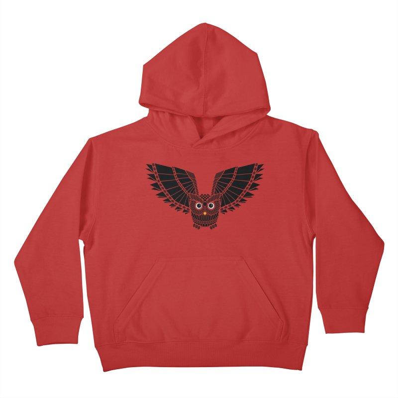 The Great Geometric Owl Kids Pullover Hoody by Kamonkey's Artist Shop