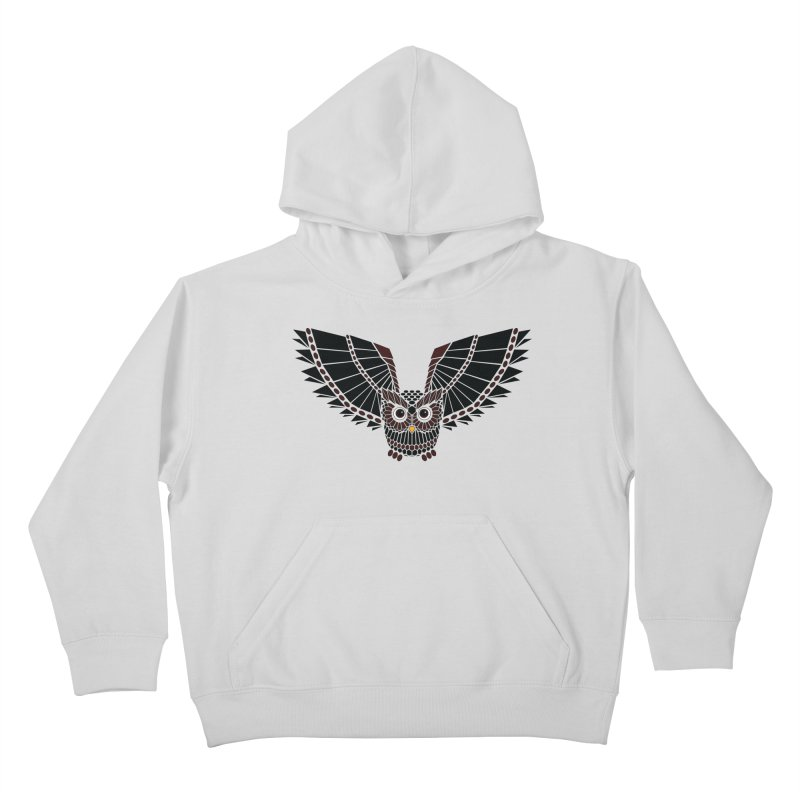 The Great Geometric Owl Kids Pullover Hoody by Kamonkey's Artist Shop