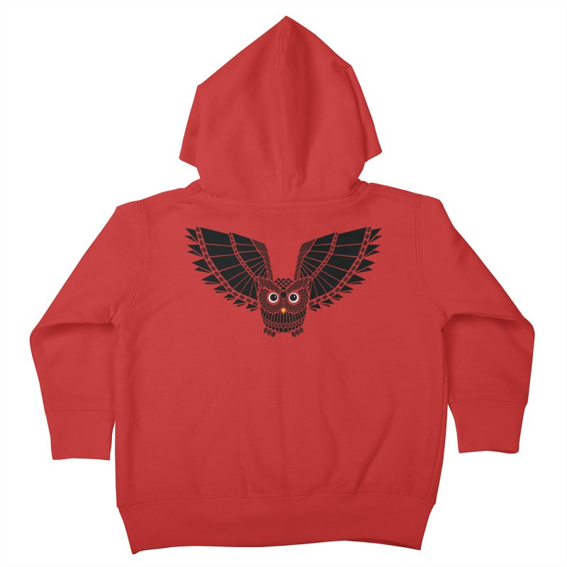 The Great Geometric Owl Kids Toddler Zip-Up Hoody by Kamonkey's Artist Shop