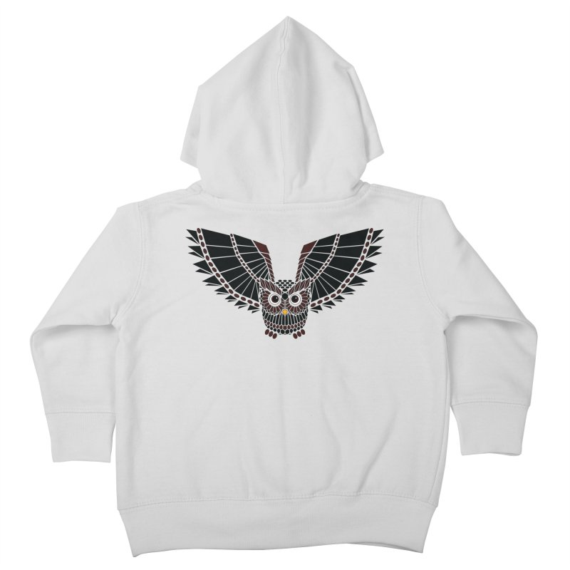 The Great Geometric Owl Kids Toddler Zip-Up Hoody by Kamonkey's Artist Shop