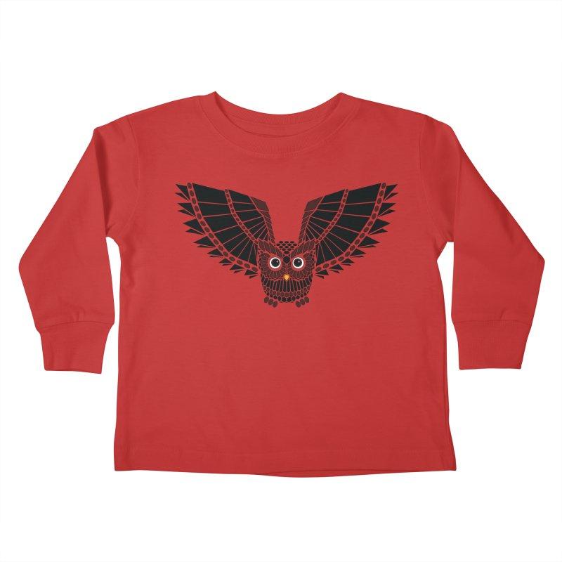 The Great Geometric Owl Kids Toddler Longsleeve T-Shirt by Kamonkey's Artist Shop