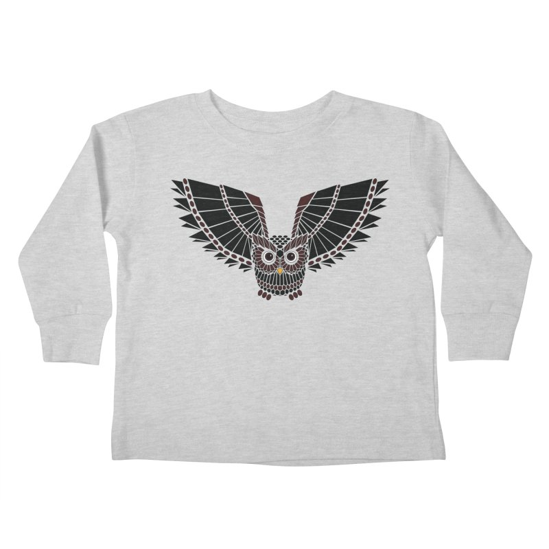The Great Geometric Owl Kids Toddler Longsleeve T-Shirt by Kamonkey's Artist Shop