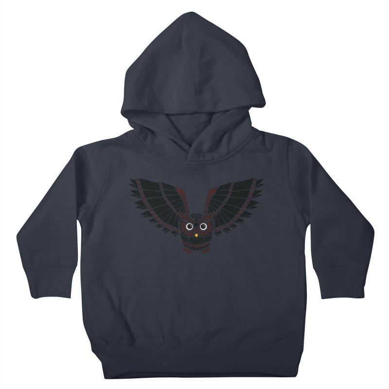 The Great Geometric Owl Kids Toddler Pullover Hoody by Kamonkey's Artist Shop