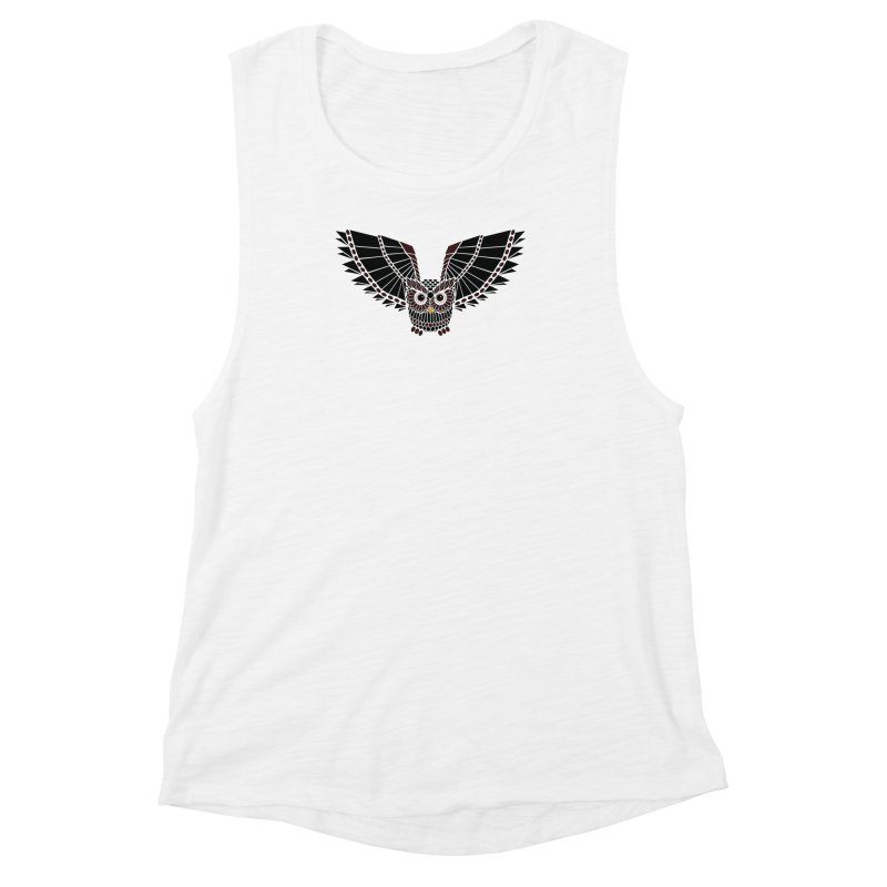 The Great Geometric Owl Women's Muscle Tank by Kamonkey's Artist Shop