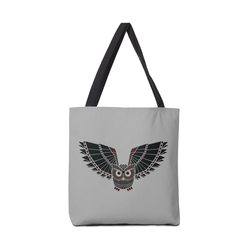 The Great Geometric Owl Accessories Tote Bag Bag by Kamonkey's Artist Shop