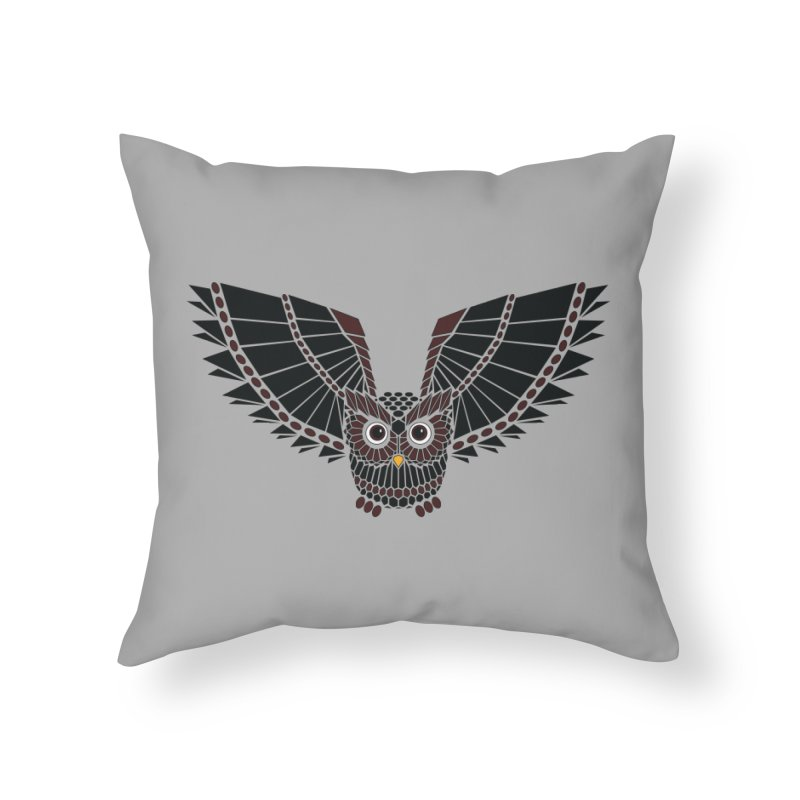 The Great Geometric Owl Home Throw Pillow by Kamonkey's Artist Shop