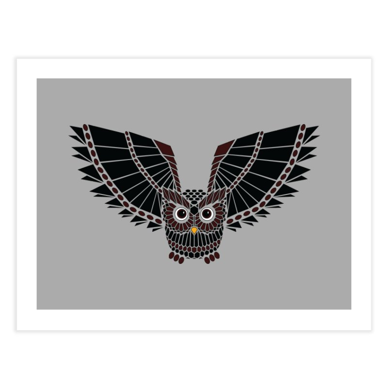 The Great Geometric Owl Home Fine Art Print by Kamonkey's Artist Shop