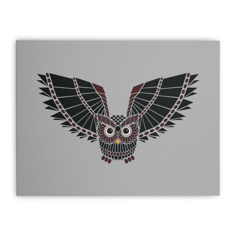 The Great Geometric Owl Home Stretched Canvas by Kamonkey's Artist Shop