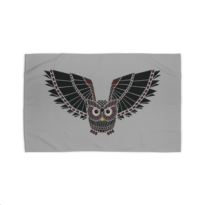 The Great Geometric Owl Home Rug by Kamonkey's Artist Shop