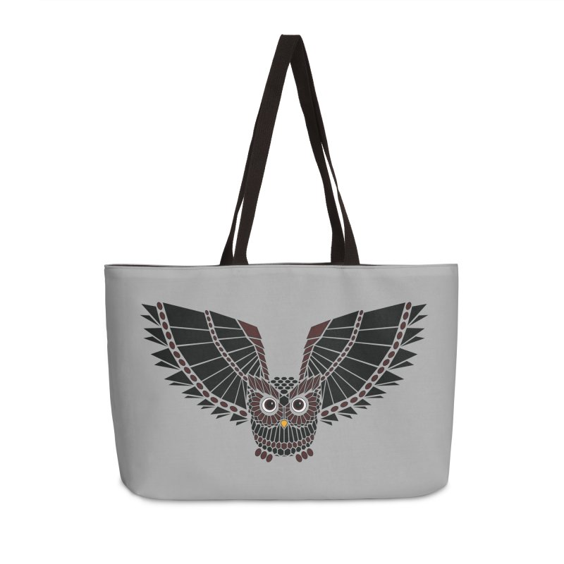 The Great Geometric Owl Accessories Weekender Bag Bag by Kamonkey's Artist Shop