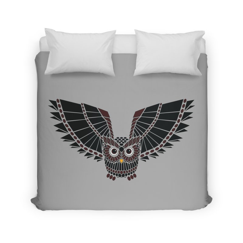 The Great Geometric Owl Home Duvet by Kamonkey's Artist Shop