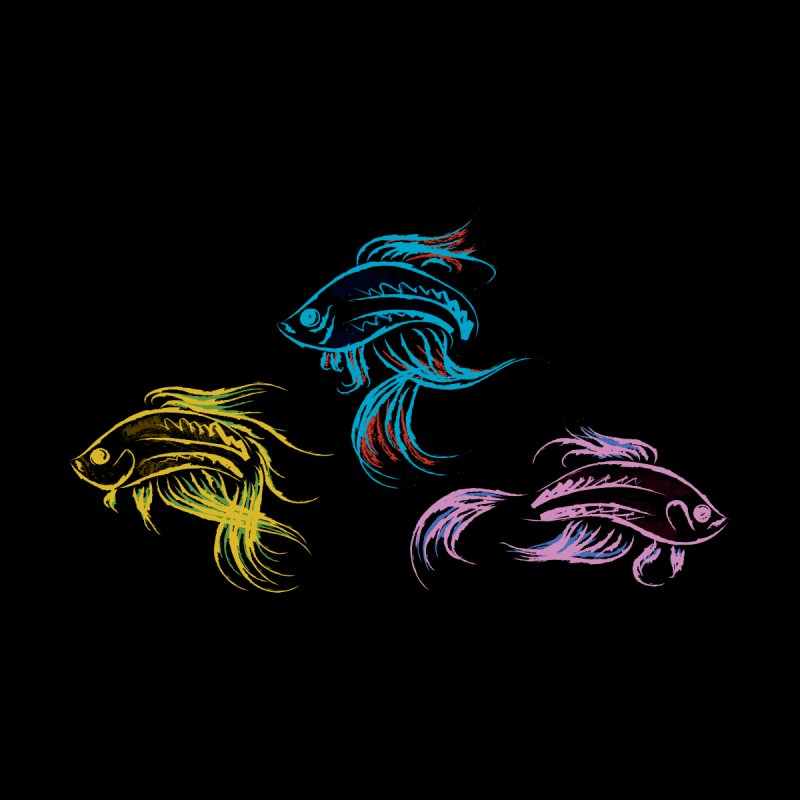 Neon Betta Fish Home Framed Fine Art Print by Kamonkey's Artist Shop