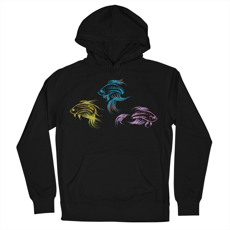 Neon Betta Fish Women's French Terry Pullover Hoody by Kamonkey's Artist Shop