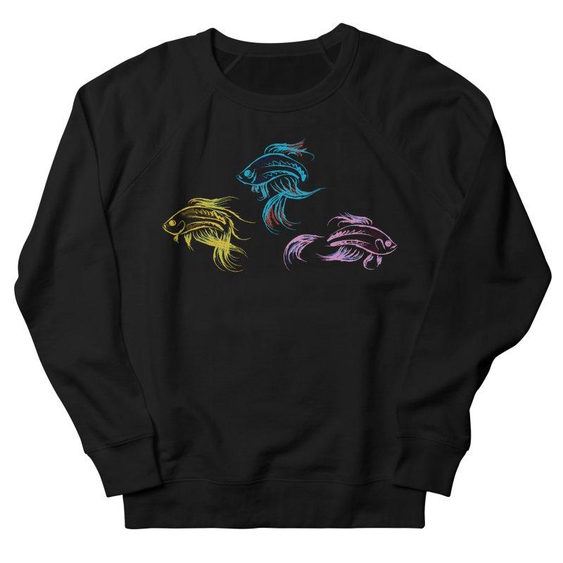 Neon Betta Fish Women's French Terry Sweatshirt by Kamonkey's Artist Shop