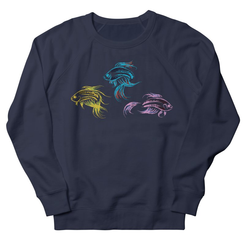 Neon Betta Fish Women's French Terry Sweatshirt by Kamonkey's Artist Shop
