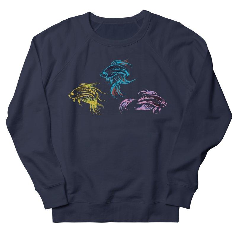 Neon Betta Fish Men's Sweatshirt by Kamonkey's Artist Shop